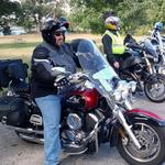 Tommy Kiper riding for a  cause Sat 28 Sept, 2013.